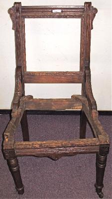 Eastlake Chair Without Crest And Needing Regluing
