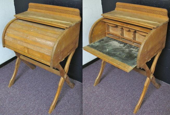 ChildsRollTopOpenAndClosed - Restoring Roll Top Desks For New Uses In Modern Settings