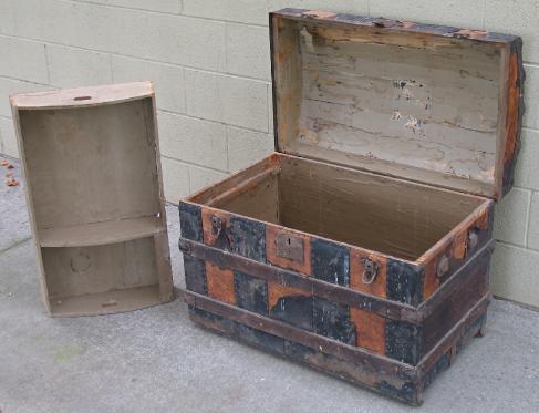 restoring antique trunks for beauty and function. Black Bedroom Furniture Sets. Home Design Ideas